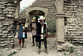 Mayo people portrayed as jews during holy week. Sinaloa state. Mexico