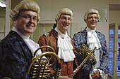 Musicians of the Vienna Mozart Orchestra in 18th century outfit. Vienna. Austria