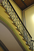 Wrought iron banister in a 19th Century house. Zacatecas. Mexico