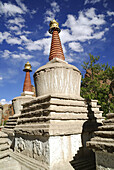 A religious building of the Far East, especially a many-storied Buddhist tower, erected as a memorial or shrine