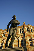 Statue of William Webb Ellis outside Rugby School, Rugby, Warwickshire, England, UK