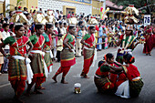 Panjim Goa, India, a feminine group during the Shigmotsav parade