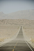 Death Valley California, the main road through the valley