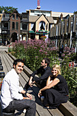 Young People in Yorkville, Toronto, Ontario, Canada