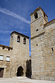 Sixteenth-century Gothic church, San Felices of Gallegos, Natural Park Arribes del Duero, Salamanca, Castilla y Leon, Spain, Euro