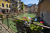 Canals in Annency Old Town, France.