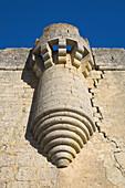 Battlement of Castle Villalonso, in the province of Zamora. Castilla y Leon. Spain. Europe.