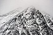 Mountain in fog, Hintertux, Tyrol, Austria