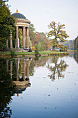 Temple of Apollo in autumn, Nymphenburg palace park, Munich, Bavaria, Germany