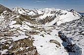 Snowy mountain scenery, Innsbruck, Tyrol, Austria