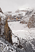 Snow-covered Dolomites, Trentino-Alto Adige/Südtirol, Italy