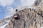 Aerial cableway to Lagazuoi, Dolomites, Trentino-Alto Adige/Südtirol, Italy