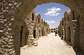 ANCIENT FORTIFIED GRANARYS IN SOUTH TUNISIAN DESERT