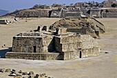Monte Albán pre-Columbian archaeological site. Oaxaca, Mexico