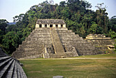 Palenque Maya archaeological site. Chiapas, Mexico