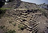 Toniná pre-Columbian archaeological site. Chiapas, Mexico