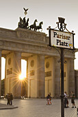 Brandenburg Gate in Pariser Platz, Berlin. Germany