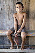 Railan da Silva, lives in one of the isolated comunities in the Amazonas, San Francisco de Asis. Brazil.