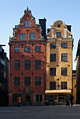 Architecture, Building, Buildings, Cities, City, Color, Colour, Daytime, Europe, Exterior, Facade, Façade, Facades, Façades, House, Houses, Outdoor, Outdoors, Outside, Stockholm, Street, Streets, Sweden, Typical, V07-702649, agefotostock
