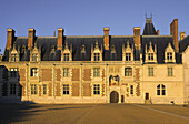 Palace of Blois, the Louis XII wing, built from the 13 th. to 16 th. century in Renaissance style, on the list of World Cultural Heritage sites of UNESCO, Loir et Cher province, France