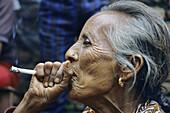 Woman, Newar ethnic group, Bhaktapur, Nepal