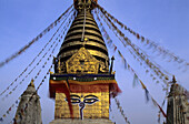 Swayambunath stupa, Kathamandu, Nepal