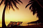 Reclining chair on the  beach, Vung Tau, Vietnam