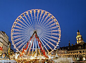 Great wheel at christmas time, Lille, France