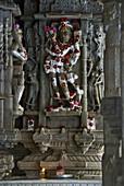Jain temple  of Chaumukha Mandir built in 1439, Ranakpur, Rajasthan, India