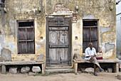 An old house at Alamelumangapuram, India