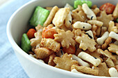 Bowl of Japanese nuts Rice Crackers