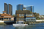 Water Taxi at Seaport Village, San Diego, California, USA