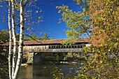 Covered Bridge, Blair, White Mountains, New Hampshire, New England, USA