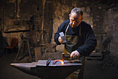 Blacksmith at work, Dzierzazna, Lodz, Poland