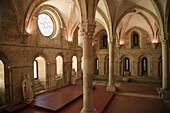 Monks Hall, Santa Maria de Alcobaça Monastery UNESCO World Heritage, Alcobaça, Estremadura, Portugal