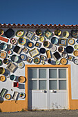 Traditional hand painted pottery, Sagres, Algarve, Portugal