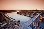 Ponte D  Luis I and Douro river, Porto UNESCO World Heritage, Portugal