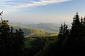 View from Inselsberg, near Brotterode, near Tabarz, Thuringian Forest, Thuringia, Germany