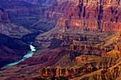 The Colorado River in a gorge at Grand Canyon, Arizona, North America, America