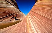 The Vermillion Cliff, sandstone formations in the sunlight, Coyote Buttes, Arizona, North America, Amerca