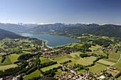 Aerial shot of Gmund am Tegernsee, Bavaria, Germany