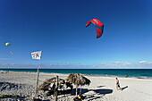 Kites at beach, Varadero, Matanzas, Cuba, West Indies