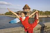 China -April 2008. Beijin City. The Forbiden City (W.H.). Acrobat