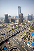 China -April 2008. Beijin City. CBD District. China  World Trade Center at  Guomao. DongsanhuanAvenue