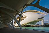 City of Arts and Sciences by S. Calatrava,  Valencia. Comunidad Valenciana,  Spain