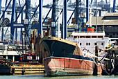 Panama. Panama city. Port of Balboa. Panama Canal. Port activity.