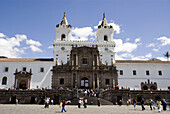 Ecuador.Quito.Historical center.Square of San Francisco with the church and convent of San francisco (XVI century).