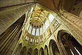 The apse of Abbey´s church. Mont Saint Michel. Normandy. France