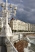 Hotel Londres and La Concha promenade,  San Sebastian,  Guipuzcoa,  Basque Country,  Spain