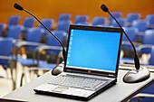 Lecture hall,  convention center,  Kursaal Center. San Sebastian,  Guipuzcoa,  Basque Country,  Spain